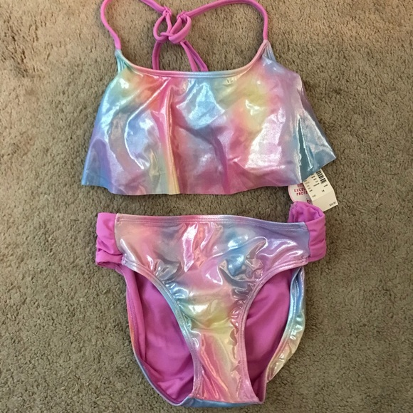 a8452fc568 Justice Iridescent 2pc Swimsuit NWT